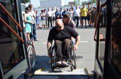 Активисты ГООО «Инвалиды-спинальники» провели обучающий тренинг для водителей троллейбусов
