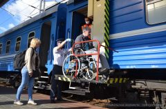 Возобновлено железнодорожное сообщение Гомель-Москва. В поезде созданы условия для колясочников