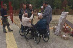 Представители ГООО «Инвалиды-спинальники» задействованы в строительстве инклюзивной спортивной площадки в Гомеле